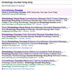 Kinesiology courses hong kong