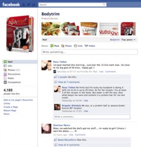 facebook page - social media marketing